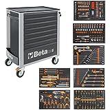 Beta Easy carro de herramientas con 8cajones con 384teiligem Herramientas Surtido, 2400S de o8/S de XL, 024002293, gris