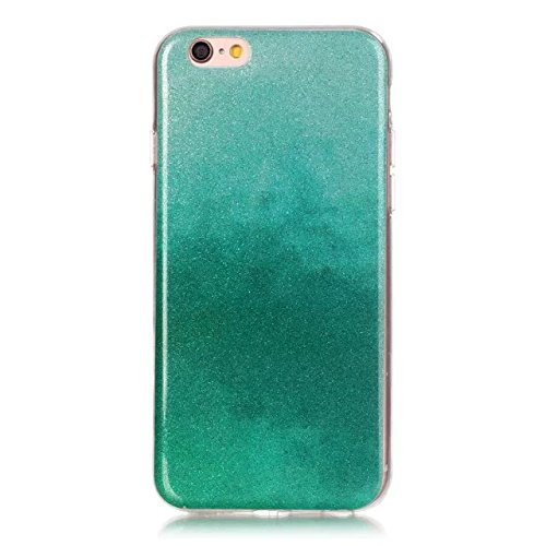 iPhone Case Cover Transparente Steigung-Farben-weiche TPU Schutzüberzug-Fall-weiche rückseitige Abdeckung für iPhone 6s plus ( Color : Rose , Size : IPhone 6s Plus ) Green