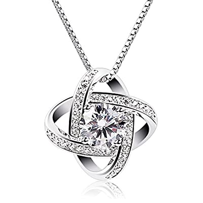 B.Catcher Sterling Silver Cubic Zirconia Pendant Gemini Necklace