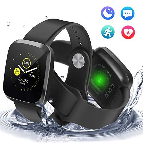 Imagen de pulsera de actividad con monitor de sueño y pulsometro, ip68 impermeable inteligente reloj deportivo con a 1.3