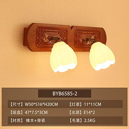 BESPD Moderne chinesische Knochen Einfache hölzerne Wand Lampe Wohnzimmer Restaurant Flur Treppe Schlafzimmer Bett Lampen D-2 LED