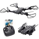 Smatree L603 Drone Pliable Portable avec Caméra 720p HD Vidéo WiFi 2.4GHz 6-Axis Gyro Fontion Maintien l'Altitude, Retour Automatique, Mode Headless, Fonction visée optique, pour Enfants, Débutants