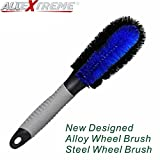 #4: AllExtreme Car Wheel Cleaning Brush Tire Rim Scrub Brush Soft Plastic Scratchless Brush Cleaner with Anti-Slip Rubber Handle for Automobile and Motorcycle (12 inch)