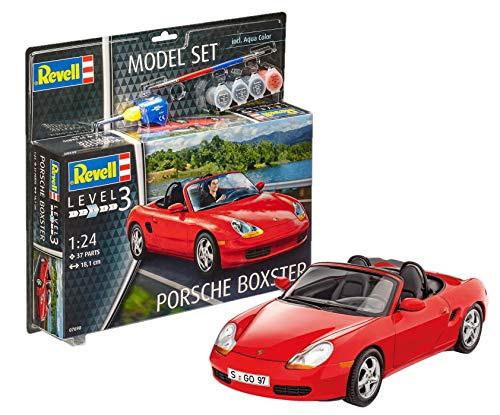 Revell Modellbausatz Auto 1:24 - Porsche Boxster im Maßstab 1:24, Level 3, originalgetreue Nachbildung mit vielen Details, , Model Set mit Basiszubehör, 67690 (Auto-modell Im Maßstab Kit)
