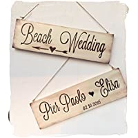 Cartello per matrimonio shabby, in legno, fatto a mano