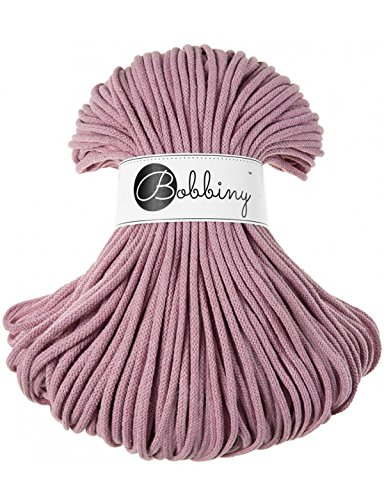 Bobbiny Cords 5 mm - Rope-Garn 100 m (Dusty pink) -