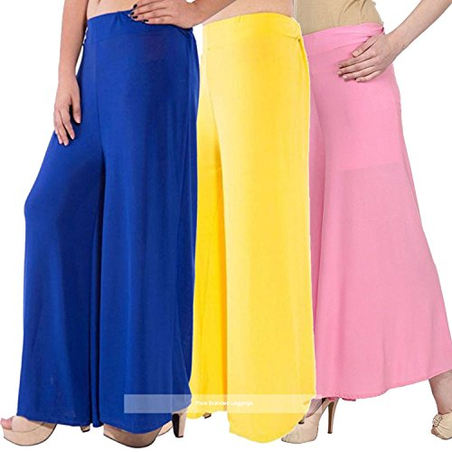 Pixie Stylish Casual Wear Pant Palazzo Combo (Pack of 3) Blue, Baby...