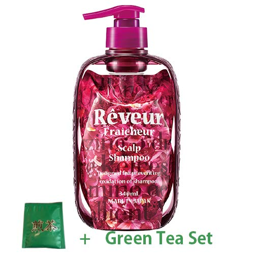 Reveur Fraicheur Scalp Hair Shampoo Dispenser Set 340ml - Floral Ginger Scent (Green Tea Set)