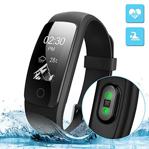 Pulsera Actividad Veimiues Pulsera Inteligente con GPS para Correr, Ni