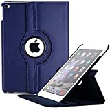 Dorado 360 Degree Rotating Leather Case Cover Stand For Apple IPad Air 2 IPad 6 (Air2 - Blue)