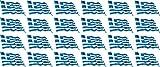 Mini Aufkleber Set - Pack wehend - 33x20mm - selbstklebender Sticker - Fahne - Griechenland - Flagge / Banner / Standarte fürs Auto, Büro, zu Hause und die Schule - 24 Stück