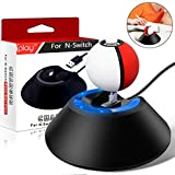 Elewelt Pokeball Plus Ladegerät Ladestation für Poke Ball Plus von Nintendo Switch Pokemon Lets Go Pikachu mit USB Lad