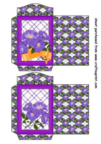 Feuille A4 pour confection de carte de vœux - 2 Periwinkle seed packets 2 par Sharon Poore