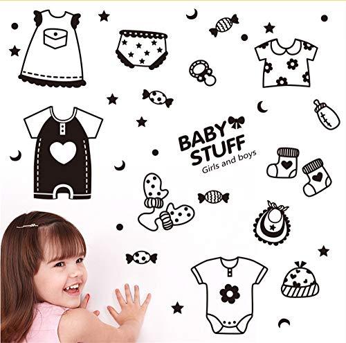 Hlonl Cartoon Kreative Aufkleber Baby Kleidung Süßigkeiten Wandaufkleber Kinder Zimmer Hintergrund Dekoration Aufkleber Aufkleber
