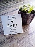 Grabbild Papa, personalisierbar, Erinnerung, Geschenk, Grabschmuck, In liebevoller Erinnerung, Andenken, Danke Papa, Wasserfestes Bild, Forex