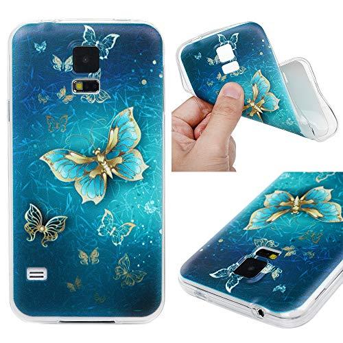 LaVibe Coque Samsung Galaxy S5 i9600, Étui Gel Silicone TPU Transparant Protecteur Housse Anti-Rayures Pare-Chocs Bumper Souple Ultra Slim Flexible Soft Case Cover - Carillons éoliens