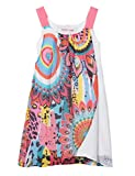 Desigual Girl Woven Dress Straps (Vest_Harare) Robe, Blanc (White 1000), 104 (Taille...