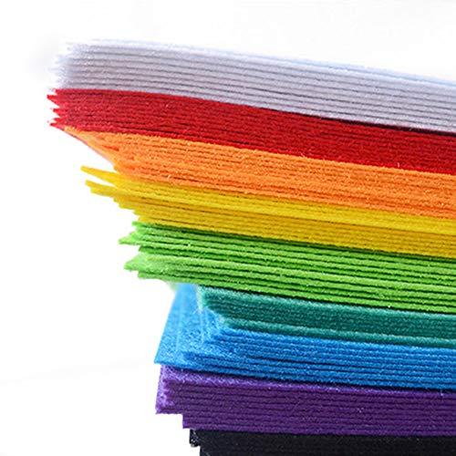 Fanmuran feltro colorato feltro in fogli diy 15cm x 15cm pannolenci non tessuto artigianato sicura 40 pz