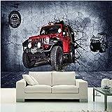 Ytdzsw Fototapete 3D Stereo Motocross Autowand Wandbild Tapete Wohnzimmer Schlafzimmer Cafe Rennstrecke Tapete-400X280Cm