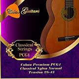 Coban Guitars Premium PCG1 tensión Normal 28 - 43 cuerdas de nailon clásica.