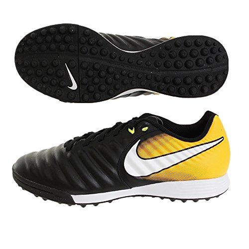 Nike Tiempox Ligera Iv Tf, Scarpe per Calcio Uomo BLACK/WHITE-LASER ORANGE VOLT