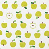 Tela blanca fruta manzana verde pequeña Robert Kaufman Sevenberry Mini Prints
