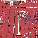 A Musical Thema in Burgandy Koordination von Stoff