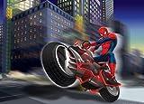 1art1 77970 Spider-Man - Motorrad Fototapete Poster-Tapete 160 x 115 cm
