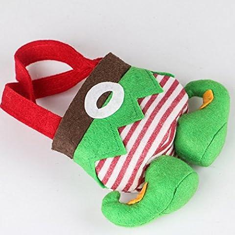 Vollter La bolsa de regalos de Navidad decoraciones duende del caramelo del bolso del bolso del regalo de Navidad Treat Bolsas