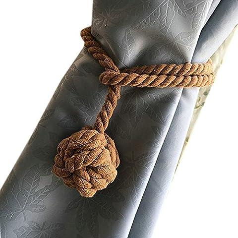 Pixnor Tenda maglia a mano Holder cotone cravatta corda (Light Coffee)