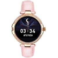 French Connection R8 series Women smartwatch (40 MM dial) with Full Touch HD screen, Metal case, Leather strap…