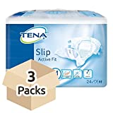 TENA Slip Active Fit Maxi (PE Backed) - Medium - Fallschoner - 3 Packs von 24