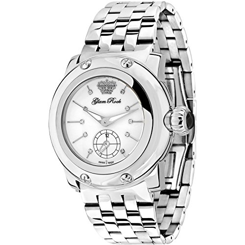glam-rock-femme-palm-beach-40-mm-etui-et-bracelet-en-acier-cadran-blanc-montre-analogique-a-quartz-g