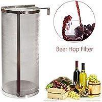 Casavidas 304 - Filtro de cerveza de acero inoxidable para cerveza o pellet, filtro de 10 x 25 cm, 400 micrones para filtros de hervidor de cerveza de la Federación de Rusia