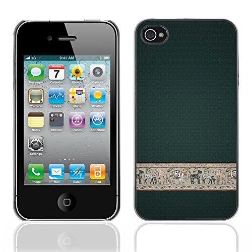 Graphic4You Curves On Canvas Digital Art Muster Design Harte Hülle Case Tasche Schutzhülle für Apple iPhone 4 und 4S Design #14