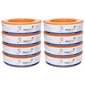 ChoiceRefill Nachfüllkassetten für Angelcare Windeleimer (8er Pack)