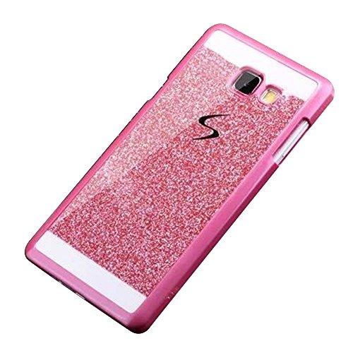 """Coque Glitter Sparkle pour Apple iPhone 6/6S 4.7"""" - Yihya Bling Strass Diamant Étui Bumper Housse de Protection Rigide Arrière Cover Case - Argent Rose"""