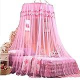 Uus WZHANG Moskitonetz zur Erhöhung der Kuppelnetze Decke Decke Einzel-Princess Floor Moskitonetz Doppelhaus Moskito Schädlingsbekämpfung Staubnetze (Bett Nicht enthalten) (Farbe : Pink)