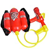 TrifyCore  Bombero Toy Backpack Pistola de Agua Extintor con Boquilla y Tanque de Agua Set Juguete de Agua al Aire Libre Summer Beach Toy Juguete de Verano Juguete del bebé Niño y Regalo de Regalo