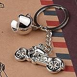 Porte-clés en métal casque et moto Idée cadeau