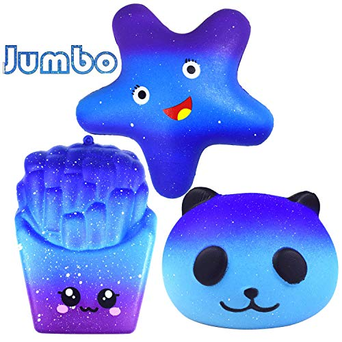 Dependable Funny Toys Slow Rising Fun Child Wipes Anti-stress 11.5cm Galaxy Deer Cream Scented Squeeze Strap Kids Gift Squishi Ture 100% Guarantee Squeeze Toys