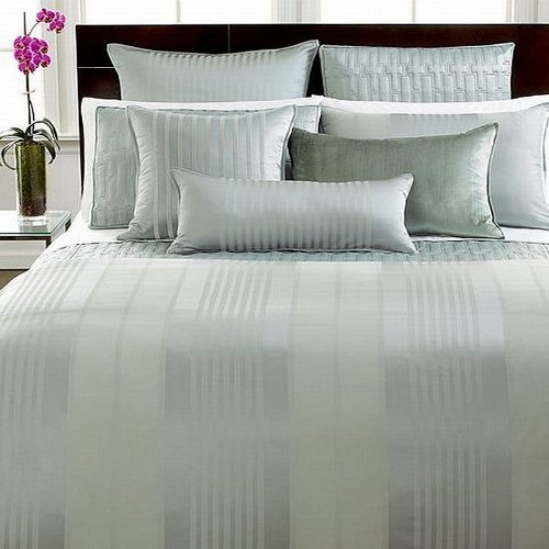 Hotel Sham (Hotel Collection Classic Stripe Euro Quilted Sham Frost by Hotel Collection)