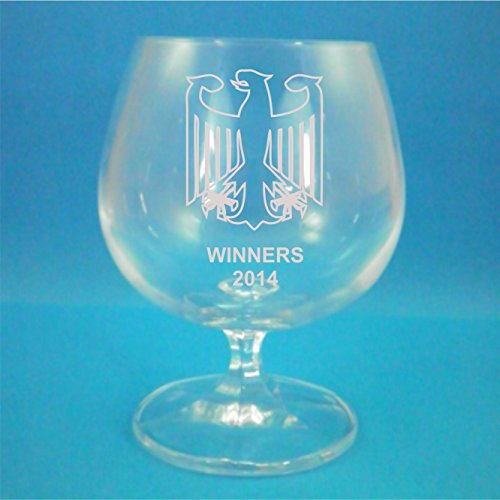 "Crystalite Bohemia Germany ""Gewinner 5.115,6 cm Eagle Design Brandy-Glas"