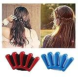Lalang 1 PC Frauen Haarspange Tool Styling Braid Halter Zubehör Werkzeug Knotenringe Schwamm Kunststoff DIY Haarstyling (Blau)