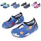 L-RUN Kinder Wasserschuhe Badeschuhe Schnell trocknend Aqua Sock Grau 12-12,5 = EU 30-31