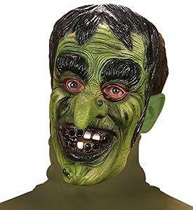 WIDMANN vd-wdm8289s Máscara Bruja, verde, talla única