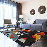 Rutschfester Vintage Teppich im Wohnzimmer Rechteckiger Teppich, Baby-Krabbeldecke, Modern und Glatt, für Wohnzimmer Schlafzimmer Balkon Sofa Teppichschlafzimmerküchen-Kinderzimmer des geometr