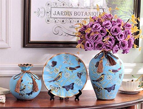 estilo-europeo-jarron-ceramica-con-flores-creativo-tres-conjuntos-home-living-habitacion-decoracion-
