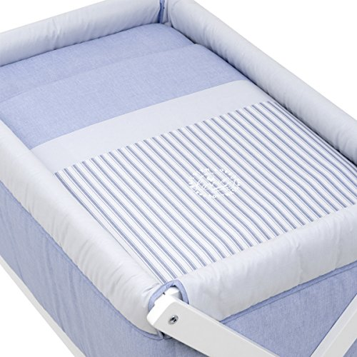 Cambrass X Wood Une Bed, Denim Blue, Small, 55 x 87 x 74 cm