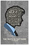 "Northwest Art Mall X-Files Fox Mulder The Truth is Out There"" Quote Word Art Giclee Print Poster (12 x 18 inch) by Portland Artist Stephen Poon."